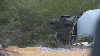 Продължава обезопасяването на цистерните край Ветово, взривната опасност не е отминала