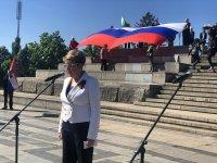 снимка 1 Отбелязване на Деня на Победата пред паметника на Съветската армия