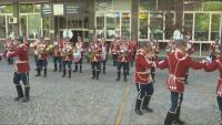 Гвардейският представителен духов оркестър с поздрав към БНТ за празника