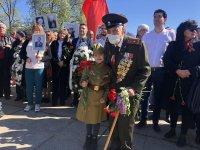 Отбелязване на Деня на Победата пред паметника на Съветската армия