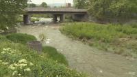 Сметища по коритото на река Бистрица, минаваща през Благоевград