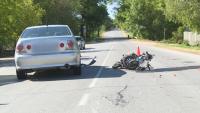 80-годишен мотоциклетист пострада тежко при катастрофа