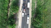 Верижна катастрофа на Околовръстното шосе в Пловдив