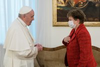 Кристалина Георгиева се срещна с папа Франциск