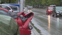 Млад шофьор блъсна 5 автомобила на паркинг в Пловдив