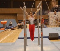 Дейвид Хъдълстоун е финалист на успоредка на Световната купа по спортна гимнастика в Осиек