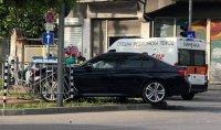 Катастрофа с полицейски автомобил в Пловдив