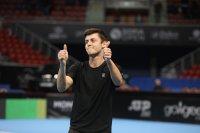 Лазаров се класира убедително на четвъртфинал в Скопие