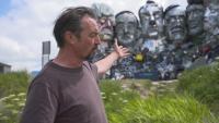 Издигнаха скулптура от електронни отпадъци на лидерите на Г-7 в Корнуол