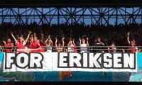 Аплодисменти, песни и прекъсване на мач в чест на Ериксен (Снимки)