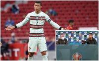 Кристиано Роналдо възнегодува срещу бутилки на масата си