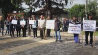 Протест в Кардам заради лош международен път