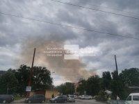 Пожар гори в сграда на торовия завод в Димитровград