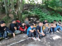 Ексклузивни кадри: Заловиха група от 69 мигранти, палили огнища край Ихтиман