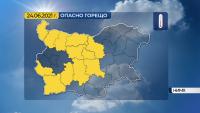 Жълт код за опасно горещо време в 12 области