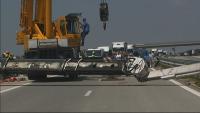 """Работник пострада при инцидент с автовишка на АМ """"Марица"""""""