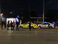 Зрелищна гонка в София: Патрулка преследва такси (ВИДЕО)