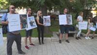 Близки на загиналите край Кадиево излязоха на протест в Пловдив