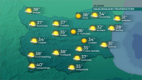 Температури около и над 35 градуса се очакват следобед