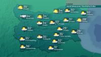 Горещо ще бъде в почти цялата страна утре