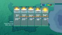 Очаква ни горещо време - с температури над 36 градуса
