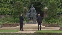 Уилям и Хари откриха статуя на принцеса Даяна (Снимки)