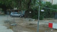 Наводнени мазета в Пловдив заради строеж на път