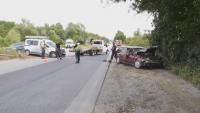 Кола излетя над мантинелата на Е-79 край Враца, четирима са пострадали