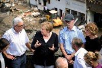 Меркел: Немският език не стига да се опишат опустошенията
