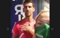 Габи Петрова накара Джокович да поздрави всички българи