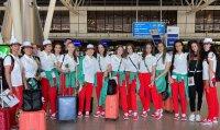 Българските гимнастички проведоха първа тренировка в Мураяма (ВИДЕО)