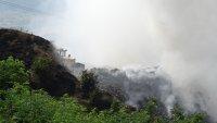 Сметището край Дупница все още тлее, няма опасност за хората в района