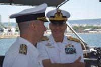 Командирът на италианските ВМС е на посещение във Варна