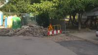 """Разбита детска площадка след подмяна на тръби в ж.к. """"Младост"""""""