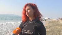 Водолази с акция за почистване на морския бряг в Бургас