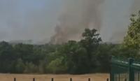 Пожар гори между Хисар и село Черничево