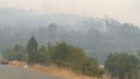 Пожарът в РСМ вече е на километър от границата ни