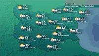 Девети ден с екстремно горещо време, утре се очаква захлаждане