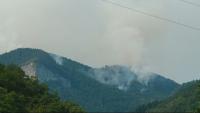 Има реална опасност за населените места в зоната на пожара в Родопите