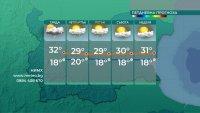 Максимални температури под 30 градуса утре