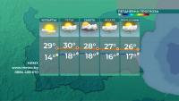 Предимно слънчево утре, през почивните дни се очаква захлаждане