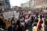 Многохиляден протест в Загреб срещу COVID мерките
