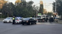 Челна катастрофа с автомобил на НСО в района на Спортната палата в София