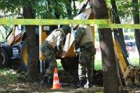 Откриха невзривен снаряд в района на НДК (СНИМКИ)