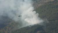 Военни помагат за гасенето на пожара над Карлово