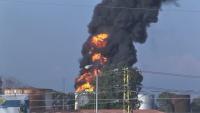 Пожар в нефтени складове в Ливан