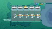 Времето ще се задържи студено и предимно облачно