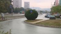 Казус от Варна: Пътен знак в храст пред търговски комплекс