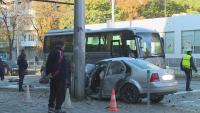 Тежка катастрофа в центъра на Варна