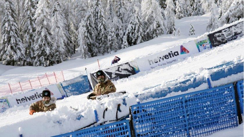 обилен снеговалеж отложи първия старт световното ски алпийски дисциплини